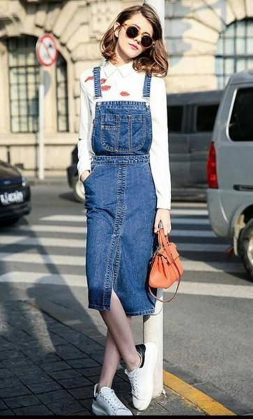 女生脚穿小白鞋怎么搭配衣服裙子和裤子更好看?