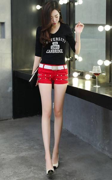 女生夏装推荐时尚短裤热裤, 妹子显身材帅气又可爱